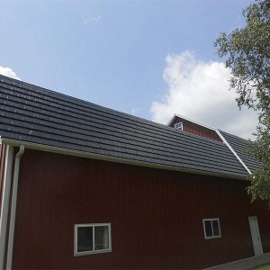Rustic Shingle Metal Roof - Black