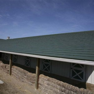 Oxford Shingle Metal Roof - Fairway Green