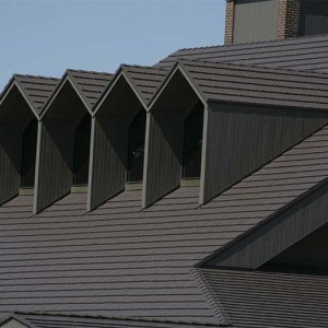 Rustic Shingle Metal Roof - Mustang Brown