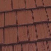 Country Manor Shake Metal Roof - Terra Red