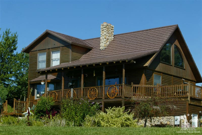 ... Roofs Of Michigan; Country Manor Shake Metal Roof   Caramel Brown ...