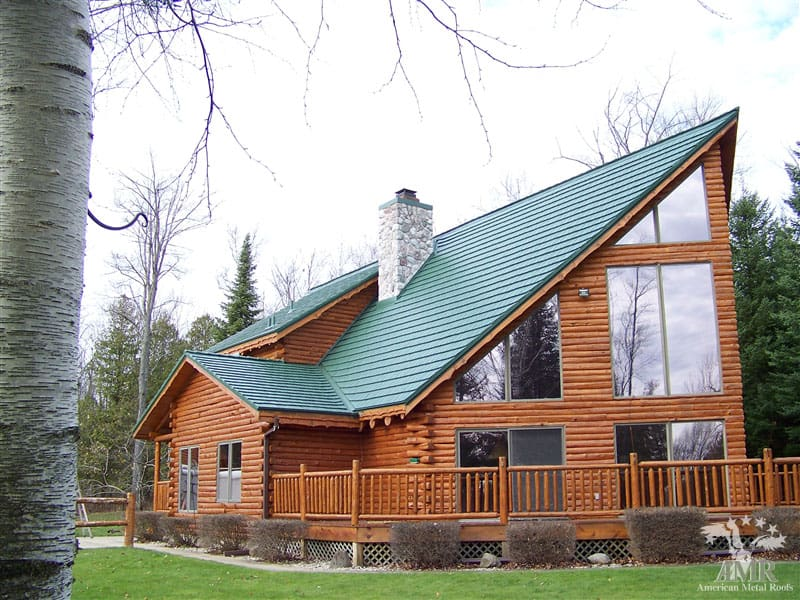 Rustic Shingle Metal Roof Forest Green