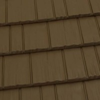 Rustic Shingle Metal Roof - Caramel Brown